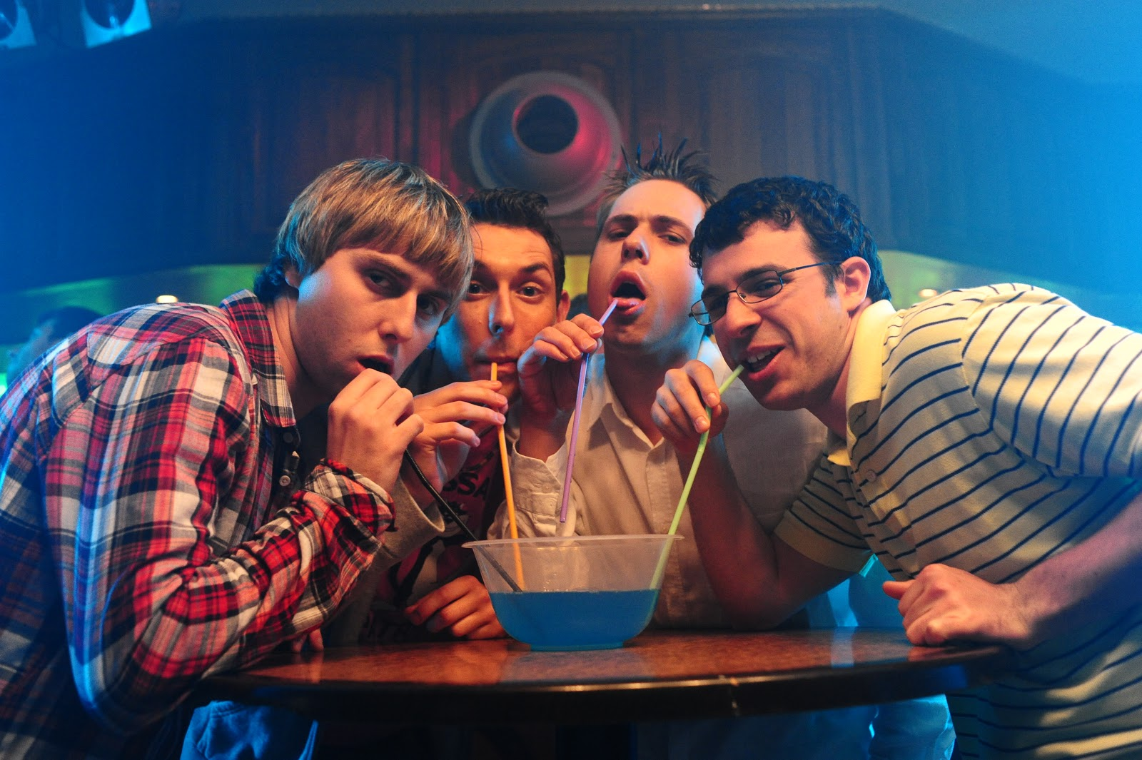 The Inbetweeners_ l-r James Buckley, Blake Harrison, Joe Harris, Simon Bird_